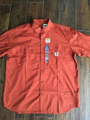 NEW CARHARTT Force Ridgefield Long Sleeve Shirt SPICE 102418-803 Large