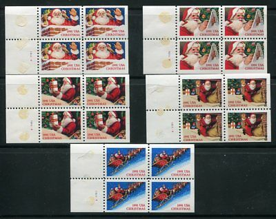 2580, 81-85 in 5 full booklet panes of 4 each, 20 stamps MNH VF BK194 cv $16