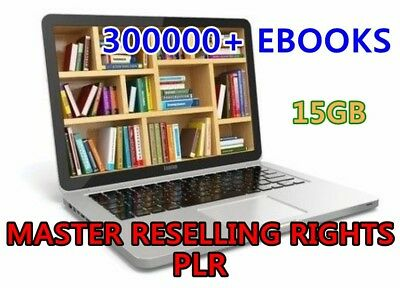 eBooks 300000+  Package Collection Pdf  With Master Resell Rights 15GB