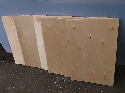 7  birch plywood sheets 492mm x748mmx12mm thick