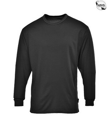 PORTWEST Thermal Base Layer Top - Black - Medium - B133BKRM  Next working day to