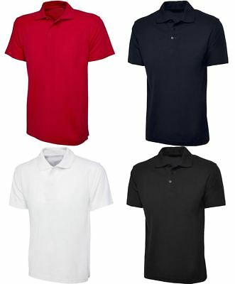 Mens Plain Classic Polo T Shirt Adult Short Sleeve Collared Summer Wear Top Tees