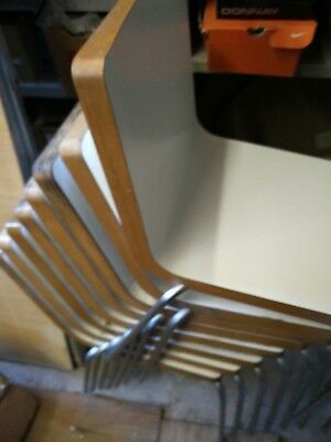 STACKING CHAIRS FOR CAFE, BISTRO or RESTAURANT USED