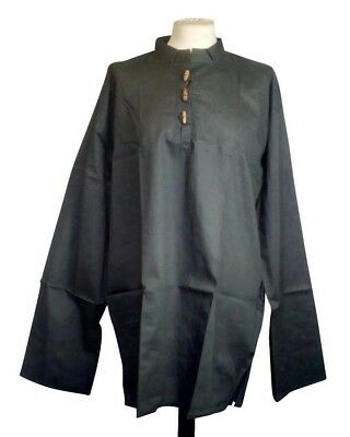 """Medieval Cotton Shirt, Pirate LARP Reenactment upto 48"""" chest OLD STOCK REDUCED"""