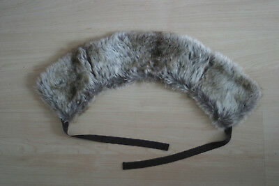 Massimo Dutti Girls Artteficial fur collar with ties
