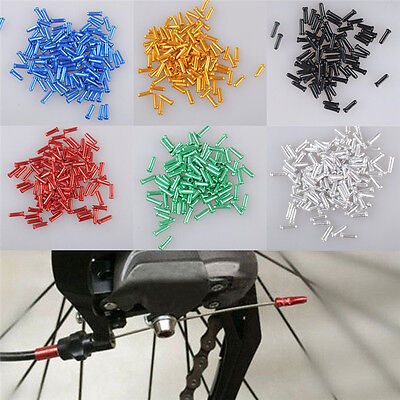 10Pcs MTB Bike Cycling Brake Shifter Derailleur Inner Cable Wire End Cap Crimps