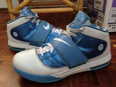 4dea44dc145 SAMPLE Nike Lebron James Zoom Soldier 4 IV TB White Blue Size 15.5  407630-109