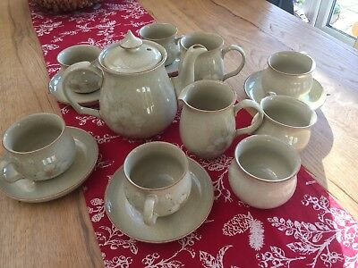 Denby Daybreak Tea set Teapot, Cups And Saucers, Milk Jug