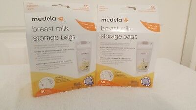 Medela Pump and Save Breast Milk Bags, 50 Count, Lot of 2 #68061