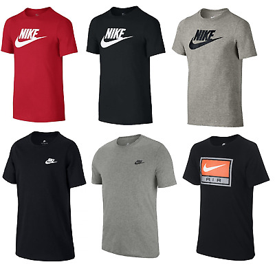 Nike Boys Junior Kids Futura JDI Cotton Crew Casual Sports T Shirt Top Age 7-13