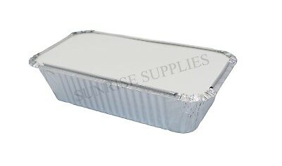 LARGE ALUMINIUM FOIL STORAGE CONTAINERS + LIDS No6A FOOD GRADE Home & Takeaway