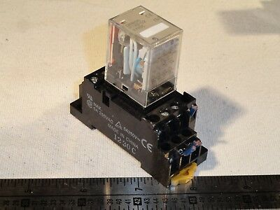 Lot of 2 OMRON MY4N-D2 Power Ice Cube Plug In Relays w/ Base 24Vdc