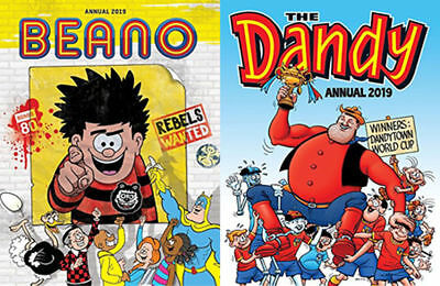 2 Annuals - Beano and Dandy Annuals 2019 (Brand New)