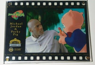 d327421122f5b1 Michael Jordan   Porky Pig Space Jam Filmstrip Animation CelCard -  Collectible