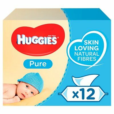 Huggies Baby Pure Care Wipes Pack 12    672 wipes