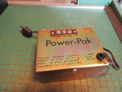 Vintage Atlas Soundolier 24 Volt Power-Pak Power Supply PS 24-07