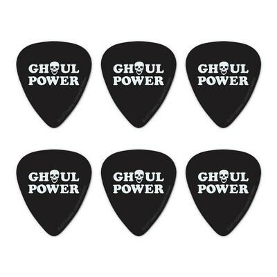 "Clamshell Pics Skulls Medium Hot Picks /""ZOMBIES/"" Guitar 6 Pick Pack"