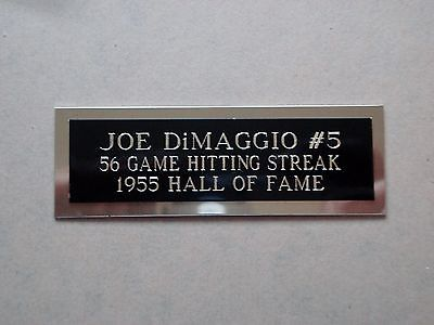 Joe DiMaggio Nameplate For A Signed Baseball Ball Cube Or Card Plaque 1 X 3