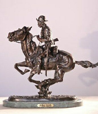 Trooper of the Plains Lost Wax Cast Bronze Statue by Frederic Remington Mini