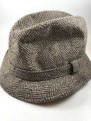 62e366e64fd62 PENDLETON 100% VIRGIN Wool Beige Men s Fedora Hat Size Medium ...