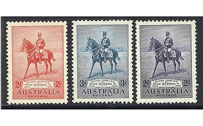 Australia 1935 His Majesty's Silver Jubilee Set of 3 Stamps MLH Mint Hinged