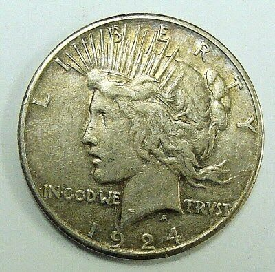 1924 S Nice Xf+ Better Date Peace Dollar, Free Shipping