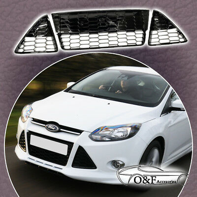 Honeycomb Mesh Front Bumper Lower Grill For Ford Focus S Se Fits Years 2012 2014