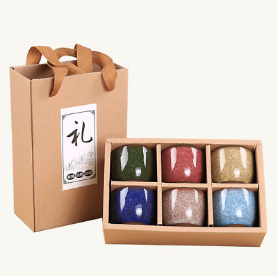 Ceramic Kung Fu Tea Set  Ice crack glaze  Crackle  Yixing Suit gift box  6pc