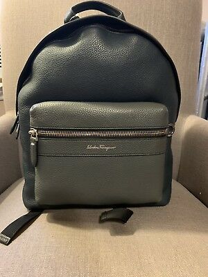 334a51c5bb37 Salvatore Ferragamo Firenze Grained Leather Backpack Black Navy  1350 51%  off