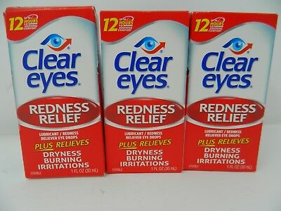 3 Pack - Clear eyes Redness Relief Eye Drops