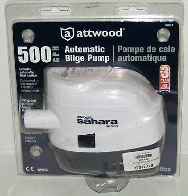 New Attwood Marine Boat Sahara Series Automatic Bilge Pump Part No. 4505-7