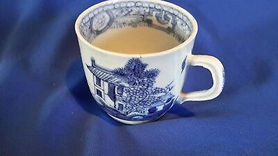 C.1790 Antique blue and white chinese hand painted Porcelain coffee cup
