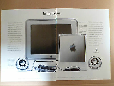 Apple Power Mac G4 Cube / 2000 Publicite Presse Magazine