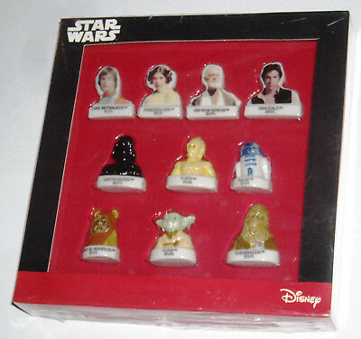 """COFFRET Collector """"STAR WARS Disney"""" Série 10 FEVES. Neuf sous blister"""