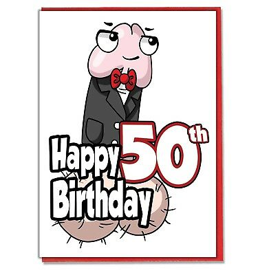 Funny Willy 50th Birthday Card
