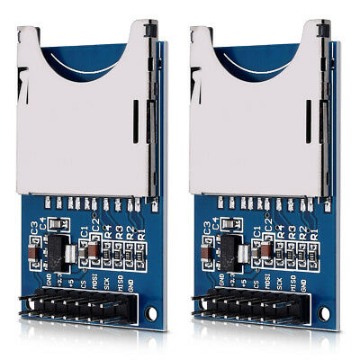2x SD Card Reader Module 3.3V to 5V Card Adapter for Arduino