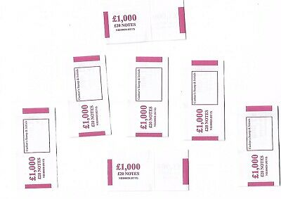 100 X £20 note money bands UK currency straps FAST POSTAGE