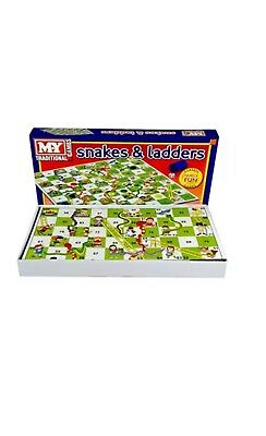 Snakes and Ladders Traditional Childrens Board Game FamilyFun New Kids/Adult Toy