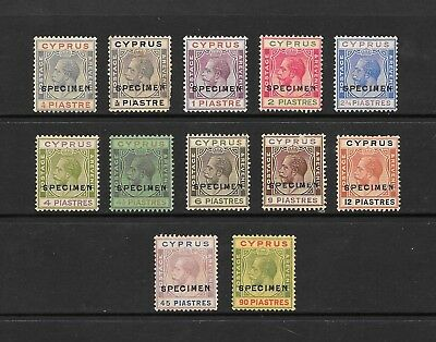 1924 King George V SG103 to SG117 set of 12 Optd. SPECIMEN  Mainly MNH CYPRUS