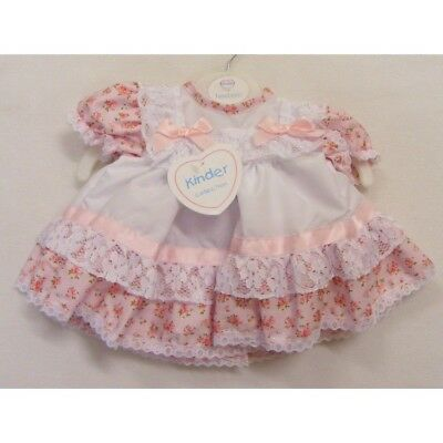 Kinder Baby Girls Traditional Romany Spanish Style Frilly Roses & Bows Dress