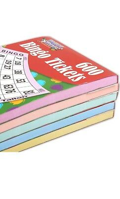LARGE 600 TICKET BINGO BOOK Card Game Pad Sheets Party  Big Jumbo SECURITY CODED