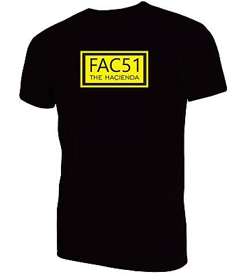 Fac 51 The Hacienda T-Shirt| Techno Rave Acid House  Madchester Dance Manchester
