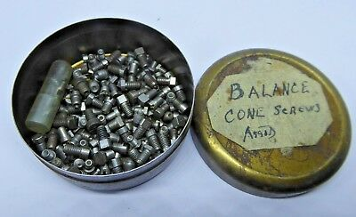 Watchmaker's Vintage Clock Parts - Balance Cone Screws - Assorted