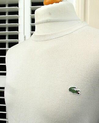 """Lacoste Stone Knitted Crew  Neck Jumper - L/XL - 44"""" - Ska Mod Scooter Skins"""