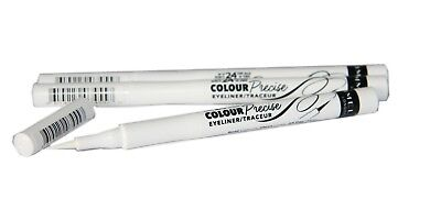 3 x Rimmel Colour Precise Eyeliner | 003 White | RRP £18 | Clean & Dramatic