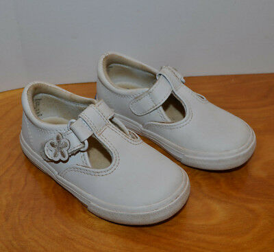 5e13890789d19 Toddler   Infant Keds White Leather Daphnes Mary Jane Tennis Shoes Size 6