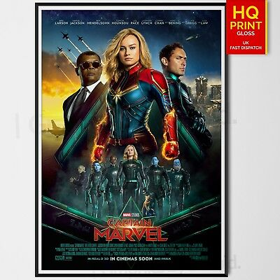 Captain Marvel Movie 2019 Brie Larson Marvel Studio Poster Print | A4 A3 A2 A1 |