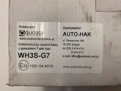Quasar, Auto-HAK, Model WH3S-G7, universal CAN-BUS, 7-pin socket (13-pin ready)