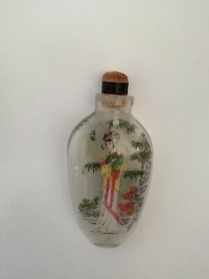 Extremely Rare Late 19th century Internally Painted Chinese Snuff Bottle