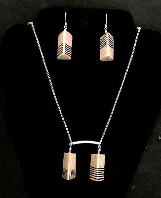 Fifth Element Stones Necklace And Earring Set, Artisan Made